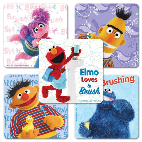 Sesame Street Good Dental Habits Stickers - 75 Per Pack