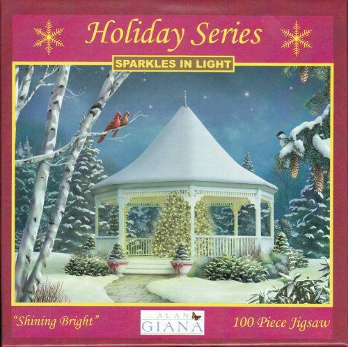 Holiday Series 100 Piece Jigsaw Puzzle - Sparkles in Light - Shining Bright