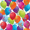 Jillson Roberts 208-Feet X 30-Inch 1/4 Ream Recycled Gift Wrap, Balloon Celebration (B13925B)