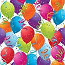 Jillson Roberts 208-Feet X 30-Inch 1/4 Ream Recycled Gift Wrap, Balloon Celebration