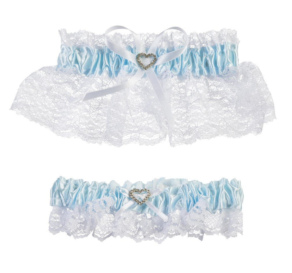 Darice V35921 Throw Away and Keep One Garter, Blue/White, 2 Per Pack