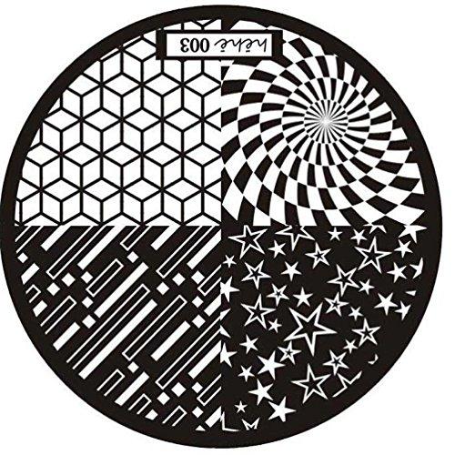 Fortan Nuovo motivo di arte del chiodo bollo di immagine Piastre Stampaggio manicure Modello 003 - Airbrush Della Vernice Template
