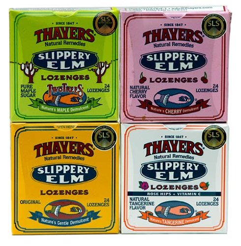 Thayer's Slippery Elm Lozenges 4 assorted packs