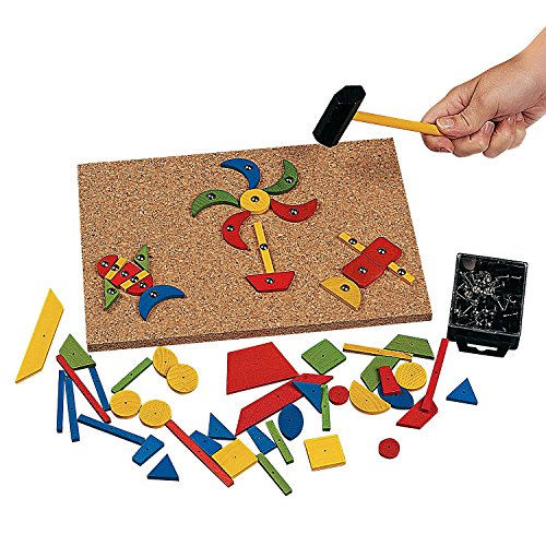 128 Pc. Wood Hammering Shapes – Handy Hammer and Nail Set