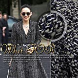 Fashion boutique tweed woven wool fabric autumn and winter clothing wool fabrics wool cloth.