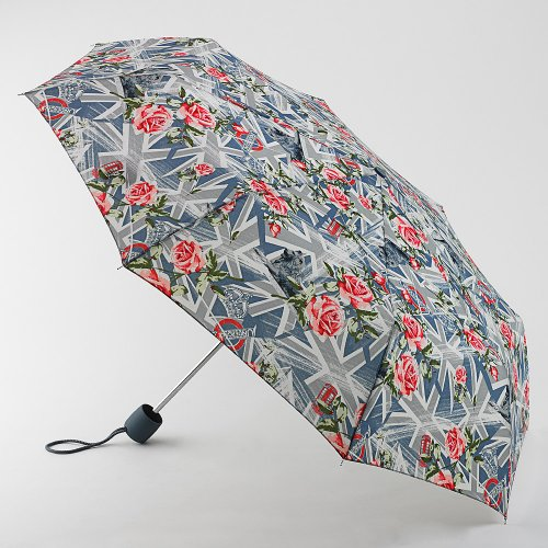 Fulton London Flags and Roses umbrella mens ladies compact umbrella