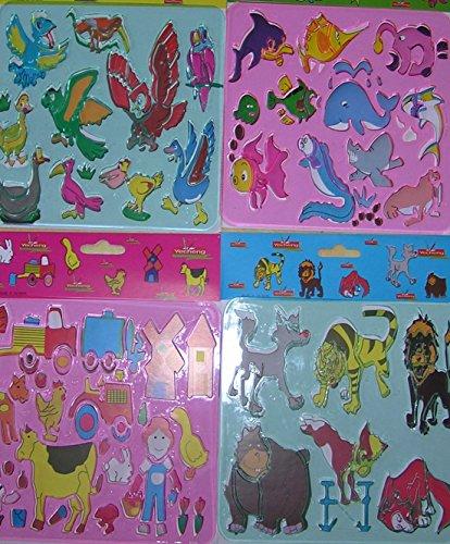 60 x Schablone zum zeichnen 15cm x 15 cm Malschablone GiveAway Mitgebsel Kinder