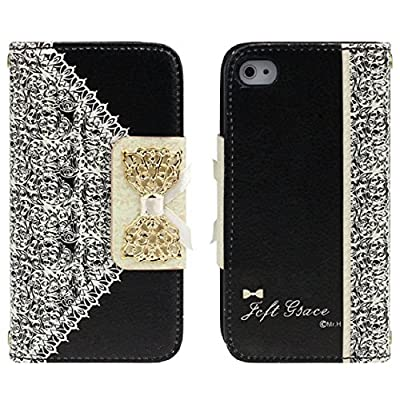 Best Cheap Deal for ABC Black Fashion Girl Woman Fresh Sweet Cute Flip Wallet Leather Case Cover for Iphone 4 4s 4g from LANDFOX - Free 2 Day Shipping Available