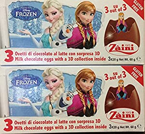 2 Boxes (6 Eggs) Disney Pixar Frozen Chocolate Surprise inside, Free Gift