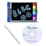 Elegoo EL-SM-004 UNO R3 2.8 Inches TFT Touch Screen with SD Card Socket w/ All Technical Data in CD for Arduino UNO R3