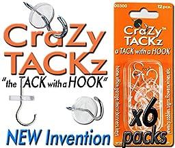 CraZy TACKz 72tacks (Round & Clear) (6pk=72 tacks)