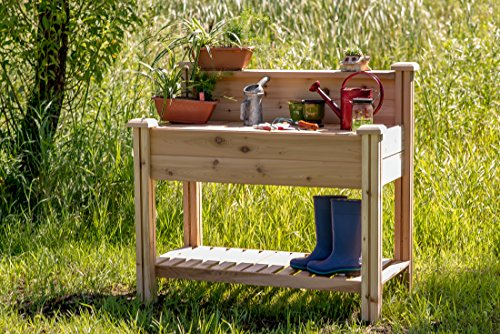 Gronomics PBWS 24-48 Potting Bench with Shelf (Western Red Cedar Potting Bench compare prices)