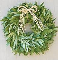 Bay Leaf Wreath with Raffia Bow
