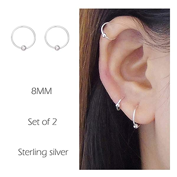 Jstyle 30-120Pcs Body Piercing Lot Stainless Steel Nose Ring Horseshoe Lip Tongue Eyebrow Tragus Body Piercing Navel Rings Barbells 14G 16G WCC7031-120Pcs