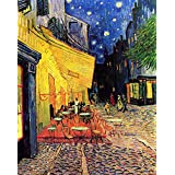 The Museum Outlet - The Cafe Terrace On The Place Du Forum Arles At Night - Canvas (24 X 18 Inch)