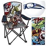 Marvel Avengers Beach Day 4 Piece Set - Avengers Camp Chair, Sunglasses and Avengers Beach Towel