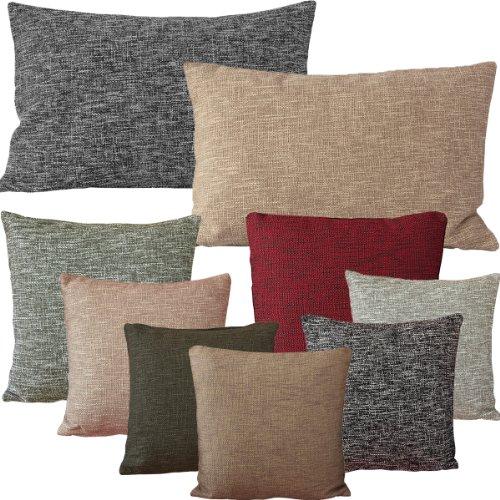hochwertige kissenh lle in leinen optik 40x40 50x50 40x60 cm mit farbwahl ecru 50 x 50 cm. Black Bedroom Furniture Sets. Home Design Ideas