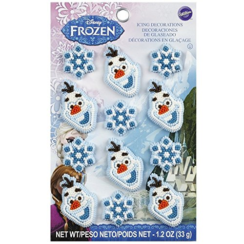 Wilton 710-4500 12 Count Disney Frozen Icing Decorations (Paper Ice Cream Cups 12 Oz compare prices)