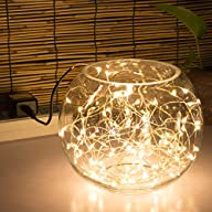 String Lights,100 Leds 33ft/10M Indoo…