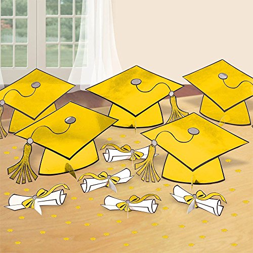 Yellow Graduation Table Decorating Kit