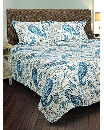 Rizzy Home Navy Paisley 3-Piece Comforter Set