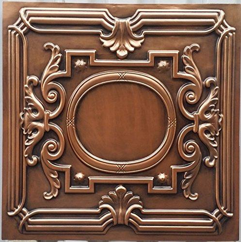 PL15peint imitation cuivre antique plafond Panneaux muraux décoration carrelage 3D en relief Cafe Pub Shop Art 10pieces/Lot