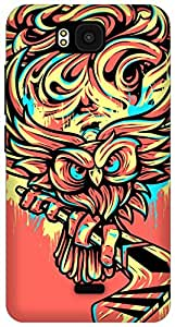 The Racoon Lean Hockey Owl hard plastic printed back case/cover for Huawei Honor Bee
