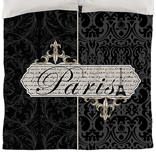 Thumbprintz Duvet Cover, Queen/Full, Paris Envelope