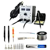 YAOGONG Automatic 2 In 1 Hot Air SMD Digital Rework Soldering Iron Station Set Mobile Phone Repair Tools (Color: 8586set)