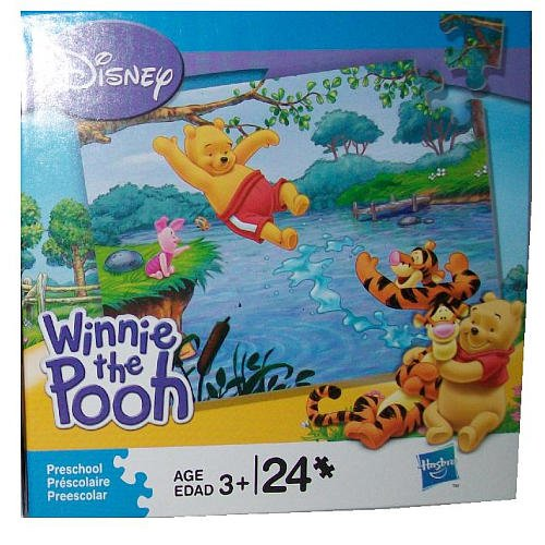 Disneys Winnie the Pooh & Friends - Swimming in the Pond - 24 Piece Puzzle - 1