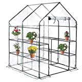 """BestMassage PortableMini Greenhouse Indoor Outdoor Plant Shelves Tomato Canopy Walk-in Garden Green House for Winter(L56.5""""W56.5""""H76"""")"""