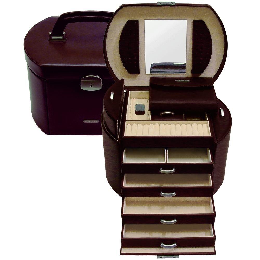 Windrose Classico Schmuckkoffer 5 Etagen 27 cm braun günstig bestellen