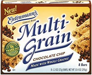 - Entenmann's Multi-grain Cereal Bars – Chewy Chocolate Chip, 10.4 Oz 12 Pack