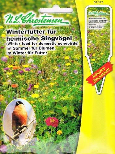 Winterfütter für Heimische Singvögel im Sommer für Blumen, im Winter für Futter Mischung
