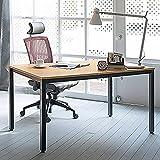Need-Bureau-dordinateur-table-informatique-Meuble-de-bureau-pour-ordinateur-pour-salle--manger-salon-cuisine-120-x-60-x-75cm-Teck-Chne-Couleur