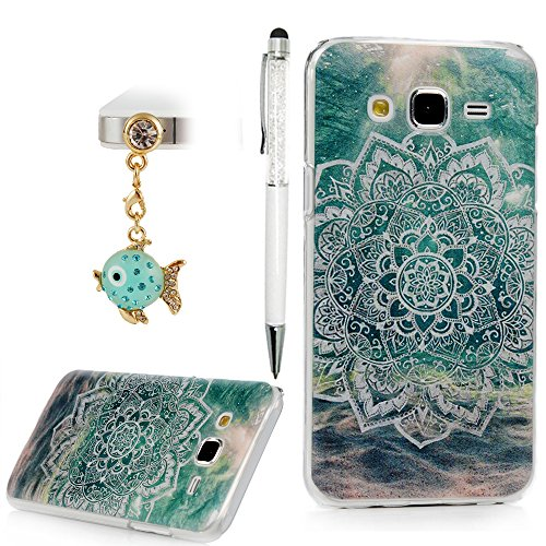 [2015 J5 Case, YOKIRIN Beauty Vintage Totem Design Crystal Clear Hard PC Back Case Cover Rubberized Ultra Slim Bumper Coating Print with a Bling Diamond Dust Plug & Stylus] (Top Diy Halloween Costumes 2016)