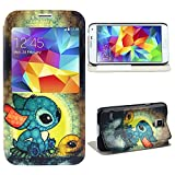 Bestpriceam 1pc New Fashion with Meaningful Pattern Leather Case Cover for Samsung Galaxy S5 I9600 (Dream Disney 3D Stitch)