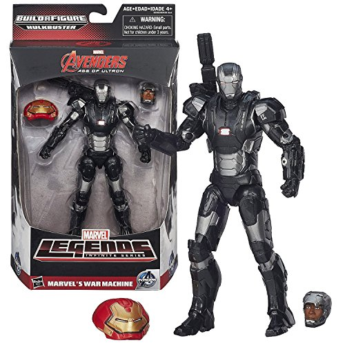 "Hasbro Year 2015 Marvel Legends Infinite Series Build a Figure ""HULKBUSTER"" Series 6 Inch Tall Action Figure - MARVEL'S WAR MACHINE with Alternative Head (Colonel James Rhodes) Plus Hulkbuster's Head"