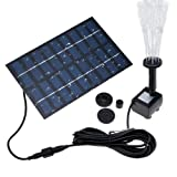 COSSCCI 1.8W Solar Fountain Water Pump for Bird Bath Solar Outdoor Fountain for Small Pond, Patio Garden (Square) (Tamaño: Square)