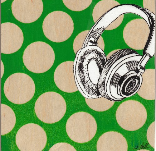 Pop Home: Green Headphones