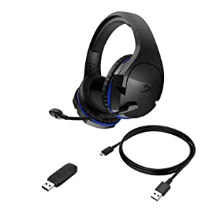 HyperX Cloud Stinger Wireless Gaming Headset with Long Lasting Battery up to 17 Hours of Use, Immersive in-Game Audio, Noise Cancelling Microphone, Comfortable Memory Foam, and Designed for PS4 (Tamaño: Headset Only)