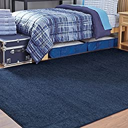 Navy 6 x 9 Solid Area Rug
