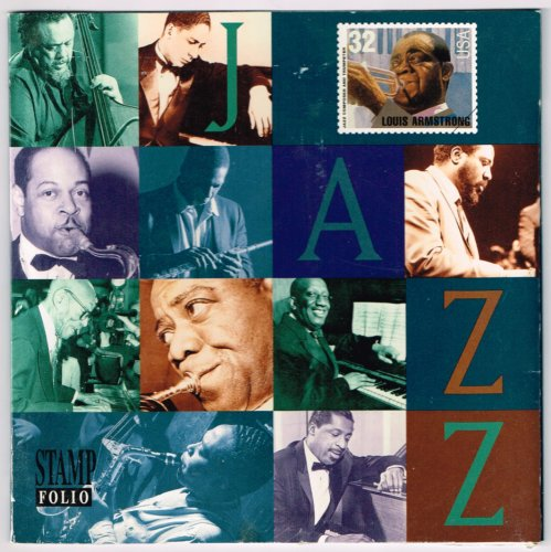 Warner Jams A Tribute To The Jazz Masters Stamp Folio and Audio CD - 1