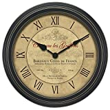 Chaney Instruments 18-Inch Vintage Port Wine Wall Clock