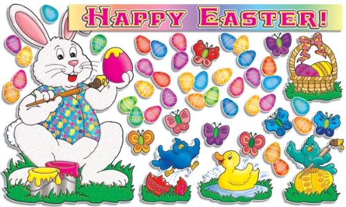 Scholastic TF3078 Happy Easter! Bulletin Board (Easter Bunny Bulletin Board compare prices)