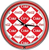 Trademark Checker Coca Cola Neon Clock - Two Neon Rings, Red