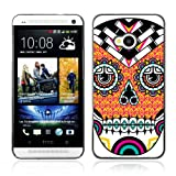CaseLord Plastic Hard Case Cover for HTC ONE ( M7 ) ( Cool Neon Sugar Skull Tattoo )