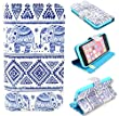 Angelina(TM) Hot Sell Fashion Cute Elephant Magnetic Flip PU Leather Wallet Card Slot Stand Case Cover for iPhone 5C