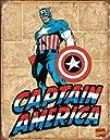 Captain America Comic Distressed Retr…