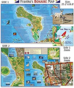 Bonaire Map for Scuba Divers and Snorkelers